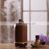 WOOD AROMISTER Aroma Oil Diffuser,Ultrasonic Aroma Nebulizer w/Natural Acacia or Rubble Wood Housing in Dark or Light Color