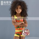 Balneaire 2016 high quality digital print child models girls in bikini,sexy kids swimwear