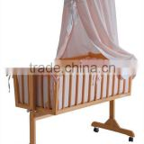 2014 best sales luxury baby wooden swing bed
