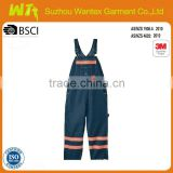 hot sale new design waterproof bib pants hi vis reflective safety working pants with reflector