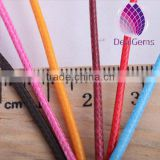 wholesale price colorful 0.8mm round korea cotton waxed cord for bracelet necklace garments