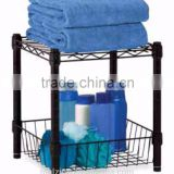 Black Powder Coating Metal Storage Basket bathroom