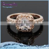 Fashion women's rose gold copper cubic zirconia wedding ring moroccan
