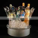 new product crown clear grey goose led lighted acrylic ice bucket for bar party supermarket