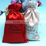wholesale reliable quality customized size china silk satin drawstring hair extensions packaging bags