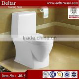Foshan sanitary ware ceramic one piece toilet, egypet washdown toilet with bidet spray hole wc
