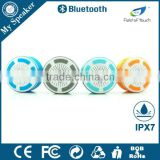 My speaker F013 white color waterproof shower radio,swimming pool floating speaker,LED bluetooth speaker