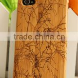 Birds and trees pattern style Wood Bamboo Case for iPhone 4G&4S