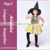 Top Quality Halloween costume for girl Dance Costumes for Kid Witch Suit and HAT Party Costume Halloween Chrismas Costume dress