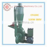 CE approved pine wood corn stalk hammer mill with cyclone/wood pellet crusher/animal feed grinder
