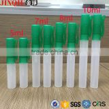 5ml 7ml 8ml 10ml Cosmetic Pocket Refillable Plastic Frosted Pen Perfume Atomizer Spray Bottle With Pump
