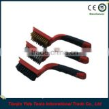 3PCS Two-color Rubbery Handle Mini Wire Brush