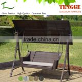 3 Seat Aluminum Rattan Wicker Outdoor Furniture Hanging Chair