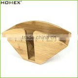 Bamboo Coffee Filter Paper Stand Homex-BSCI Factory