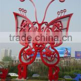 Modern Stainless Steel Butterfly Outdoor Decoration Sculpture