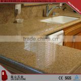 Rectangular shape G682 sunset gold polished countertop gold granite table top