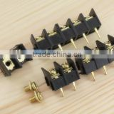 PCB connection terminal Barrier Terminal Block Gold gilt copper solder pin two three four bit