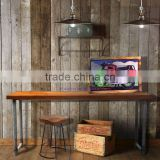 Furniture Console Table Industrial Style Combination Metal and Teak Wood