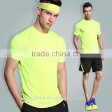 The summer fitness suit loose quick-drying breathable high quality running sportswear mens plain tracksuit