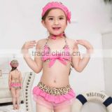 Fashion little girl's bikini with hat wholesale