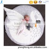 cute novel children bedroom decoration Cotton swan baby crawl play mat