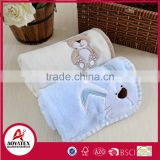 health harmless knitted embroidered coral fleece baby blanket