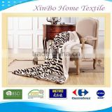 Hot Sale Wholesale Micro Mink Soft Fabric Bedding Set Home Textile China Throw 100%Polyester Print Leopard Sherpa Fleece Blanket