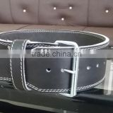 Leather Power weight lifting belt 13 mm Lever buckle and pin buckle