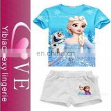 2015 China wholesale blue beauty Kids T-shirts children fashion wear