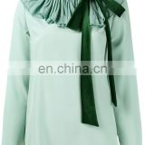 MIKA2445 Pleated Collar Blouse