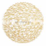 Woven Paper Round Decorative Metallic Placemat