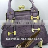 purple new party shoes and handbag set