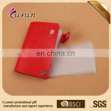 2015 Simple High quality leather pu credit ID card holder Fashion Custom Promotional Cheap Card Holder