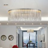 Post modern Luxurious pendant lamp Creative Fringed Aluminum Chrome Chain Led hanging Light Living Room Restaurant