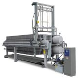NEW 1500mmx1500mm fully automatic filter press with bombay doors or drip tray and cloth washing system