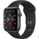 Apple Watch Series 5 (GPS Only, 44mm, Space Gray Aluminum, Black Sport Band) Price 100usd