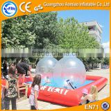 Large inflatable pool table soccer water ball inflatable swimming pool for sale