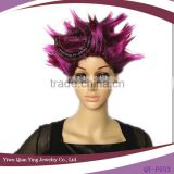 cheap wholesale purple carnival party big troll wigs