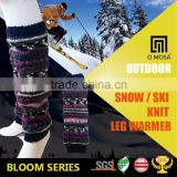 OM3255 O.MOSA 3G_6BL01 Wool Fancy Yarn Sport Knit Acrylic Wool Nylon Leg Warmer