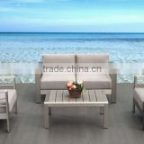 Seven star hotel popular patio brushed Aluminum and WPC Outdoor/Garden Lounge/sofa set                                                                         Quality Choice