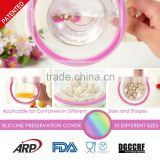 Dia.10.3cm Silicone Preservation Cover, Cap, for Bottle Cup, Bowl, Dishes, Plate, Pot, Container, Different Size, BPA Free, LFGB