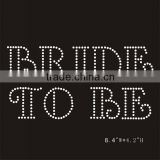 Cheap Bride iron on rhinestone wholesale heat transfers
