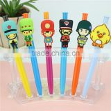Personalized souvenir plastic cartoon ball-point pen \ custom lovely ball-point pen and gel pen