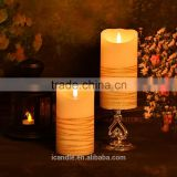 hot sale battery operation flameless moving wick candle led light moving wick led candle