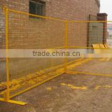 25mm steel pipe PVC spraying temporary fence removable fence temporary fencing(Canada market)