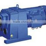 R series s helical gear reducer gearbox shaft spiral bevel gear reductor