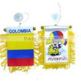 COLOMBIA car flags,colorful COLOMBIA car flag,car mirror flag