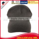 black high quality knitted beanie hat