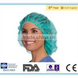 Disposable non-woven(PP) medical Surgical Bouffant Cap/Strip Cap/Nurse cap in FDA/ISO/CE standard