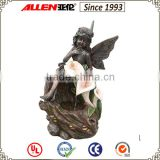 Customized design resin angel fairy water fountain
